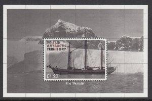 British Antarctic Territory 439 Sailing Ship Souvenir Sheet MNH VF