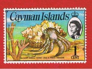 Cayman Islands #331  MNH OG  Crab & Gold  Free S/H