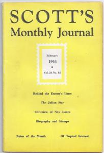 Scott's Monthly Journal-February 1944 Vol 24 No 12 (WW II stamp collecting)