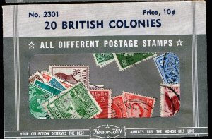 UK STAMPS British COLONIES USED STAMP SELLING PACKET