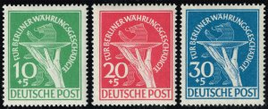 Germany #9NB1-9NB3 Currency Devaluation Set of 3; MNH (2Stars)
