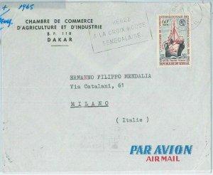 67329 -  SENEGAL - Postal History - COVER 1965 - RED CROSS Medicine
