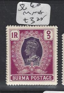BURMA (P0304B)    KGVI   1R  SG 60  MNH