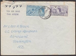 BERMUDA 1960 airmail cover to New Zealand - 9d & 1/3d franking.............29875