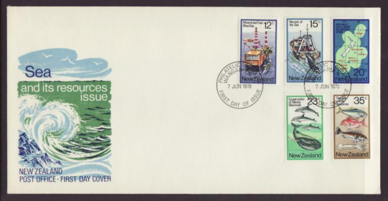 New Zealand 666-670 Sea Resources U/A FDC