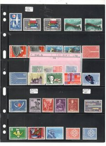 SWITZERLAND COLLECTION ON STOCK SHEET, MINT/USED