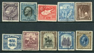 CYPRUS-1928 Anniversary.  A fine used set to 31 Sg 123-132