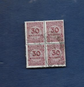 Germany 1923 30million block of 4 used
