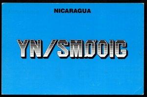 QSL QSO RADIO CARD YN/SMOOIG,Managua,Nicaragua,Robert Ronndalen, (Q2852)