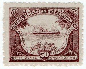 (I.B) US Cinderella : Central American Steamship Company 50c