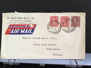 Jamaica 1933 British Motor Car Co Joseph Lucas   Air Mail  stamps cover R31303