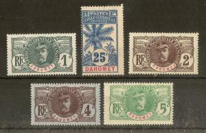 Dahomey 1906 Faidherbe etc Mint Cat£36