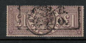 Great Britain #110 (SG #185) Used Fine - Very Fine Letter T-B Maidenhead Cancel