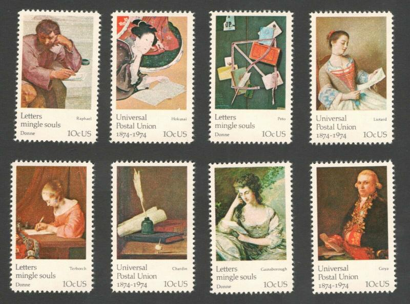 1530-37 Universal Postal Union Set Of 8 Mint/nh Free Shipping (A-365)