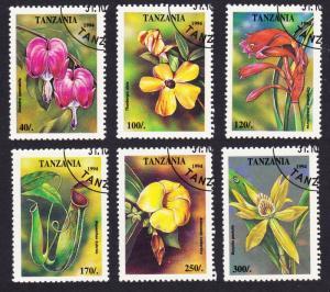 Tanzania Tropical Flowers 6v CTO SG#1917-1922 SC#1295-1300 MI#1880-1885
