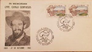 O) 1960 CUBA, CARIBBEAN, CAMILO CIENFUEGOS, CITY, FDC XF