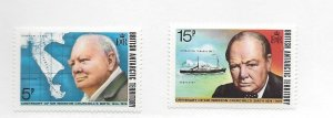 British Antarctic Territory, 62-63, Sir Winston Churchill Singles, MNH