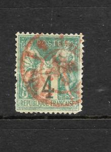 FRANCE  1876  4c  GREEN   FU   SG 214