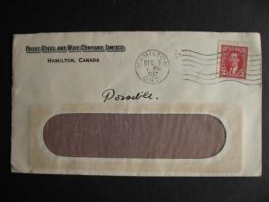 CANADA 1937 Frost Steel & Wire Co Hamilton advertising cover, check it out!