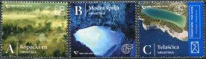 Croatia 2020. Natural Beauty of Croatia (MNH OG) Set of 3 stamps