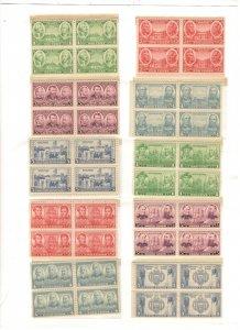 US SCOTT# 785-794 BLOCKS OF 4, MNH, COMPLETE SET
