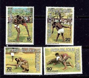 Togo 1382-85 MNH 1986 Wrestling