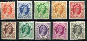 Rhodesia & Nyasaland SC# 141-50 (SG# 1-10) Elizabeth II MLH