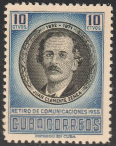 1956 Cuba Stamps Sc 554 Luisa Perez de Zambrana  NEW