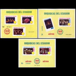 ECUADOR 1980 - Scott# 1006+C S/S Orchids NH