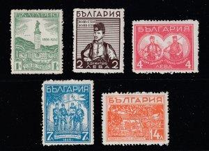 Bulgaria the 1935 Dimitur set MH