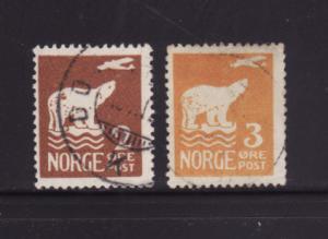 Norway 104-105 U Polar Bear and Plane