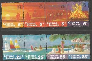 CAYMAN ISLANDS SG596/603 1984 CHRISTMAS MNH
