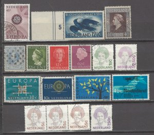 COLLECTION LOT # 4201 NETHERLANDS 16 STAMPS 1872+ CV+$19