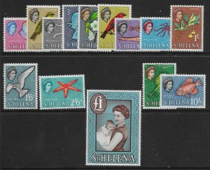 ST.HELENA SG176/89 1961-5 DEFINITIVE SET MTD MINT