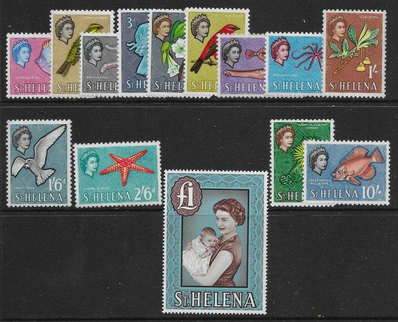 ST.HELENA SG176/89 1961-5 DEFINITIVE SET MTD MINT