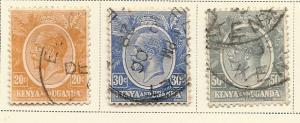 Kenya & Uganda  #25-27 (U) CV $1.10