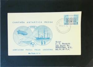 Argentina 1965 Orcades Del Sur Antarctica Cover - Z3177