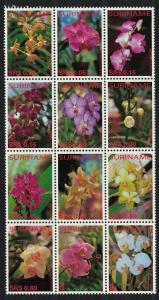 Suriname Orchids Block of 12v MI#1995-2006