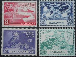 Sarawak 1949 GVI UPU set SG 167/170 mint
