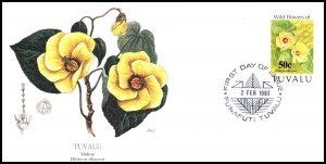 Tuvalu 626 Flowers Fleetwood U/A FDC