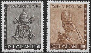 Vatican City Special Delivery Stamp Set - Scott #E17-E18/SD8 OG Mint/LH 1966