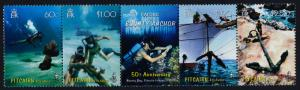 Pitcairn Islands 648 MNH Diver, Raising the Anchor of the Bounty