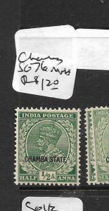 INDIA CHAMBA (P3008B) KGV 1/2A  SG76  MNH