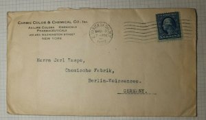 US Sc# 504 Used On Cover to Germany Varick Station NY