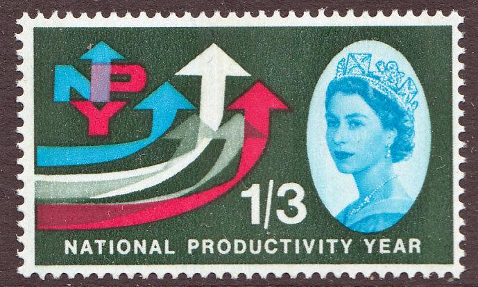 GB QEII 1962 National Productivity 1/3 Phosphor SG633p Mint Never Hinged MNH UMM