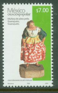 MEXICO 2499g, $7.00Pesos HANDCRAFTS 2013 ISSUE. MINT, NH. F-VF.