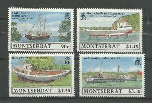 MONTSERRAT 1989 Set of 4, Ship Building Issues, Sg 793-796, UnM/Mint {Box 5-14}