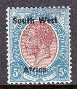 South West Africa - Scott #25a - MH - SCV $11
