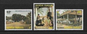FRENCH POLYNESIA #414-16  EARLY TAHITI  MNH