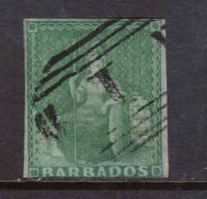 Barbados #1 Used **With Certificate**